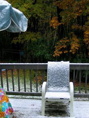 неожиданно... снег летние аксессуары