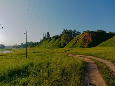 Холмы природа затон утро холмы