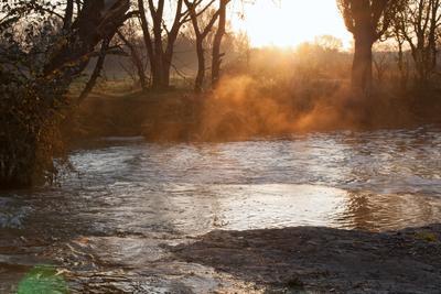 Луч Солнца Золотого Зуевка река рассвет