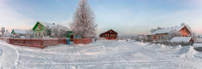 Деревни Вологодчины. Федюнинская... Вологодчина зима деревня