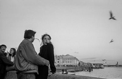На Адмиралтейской набережной. С-Пб., 2002. Mokhorev