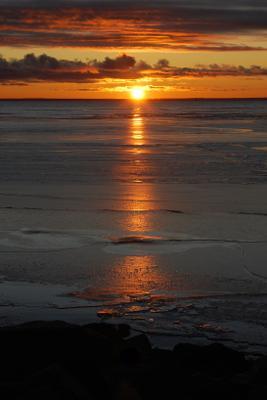 Последний закат осени.... Финский залив Лисий Нос закат