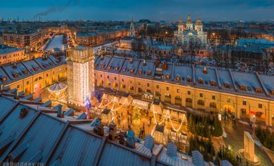 Никольские ряды россия петербург зима вечер новый год