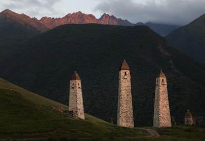 Башни Эрзи ингушетия россия кавказ горы башни боевые пейзаж