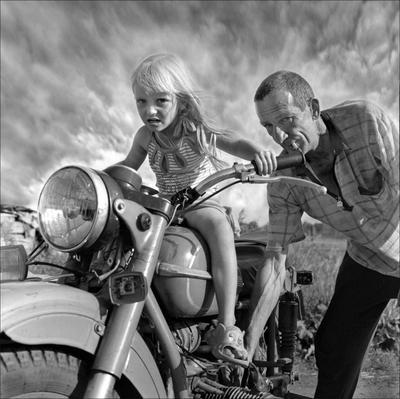 ОТОЙДИ дети мотоцикл байкеры село негород