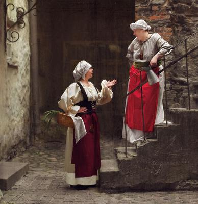 Кумушки TATJANA STASSEVITS ,девушки,женский портрет,костюм,старина,Таллинн