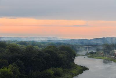 *** Неман парк дождь дымка туман закат Беларусь Гродно