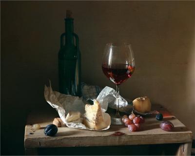 Остатки сыра сыр вино сливы виноград