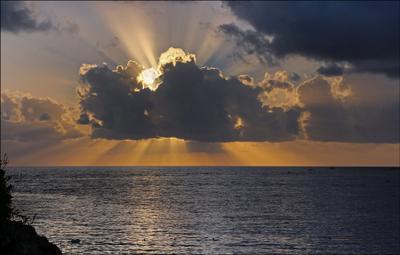 Светило... Турция Средиземное море закат