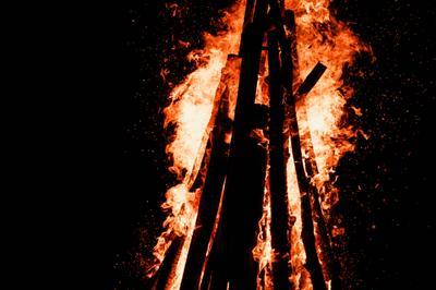*** огонь природа ночь романтика