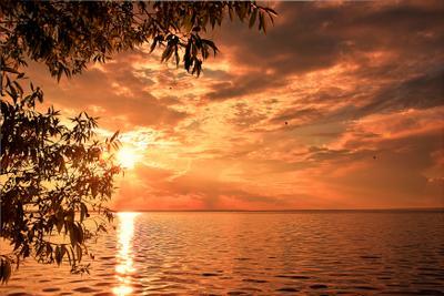 Вечер на Плещеевом озере Озеро вечер закат небо лето