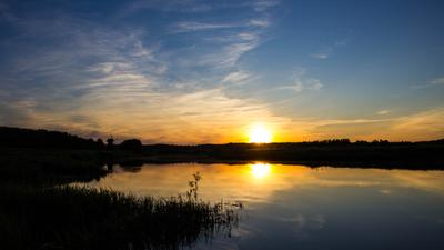 Вечер Закат река вечер солнце мельница