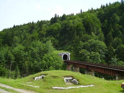 Железнодорожный   туннель   в    Яремче Карпаты Ивано-Франковская область Украина