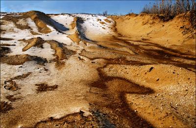 Зима в степи степь снег пыль