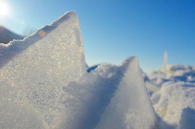 Волжские торосы Зима торосы лёд никон волга