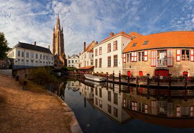 Brugge : morning mirror Брюгге Бельгия Brugge Belgium панорама EGRA ЕГРА