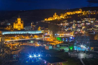 Ночной Тбилиси Тбилиси ночной город canon грузия