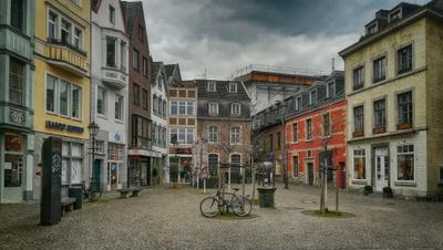 Город опустел... весна город Ахен