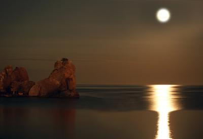 В лунном свете....