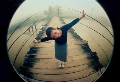Мост ломо, фишай, Карпаты