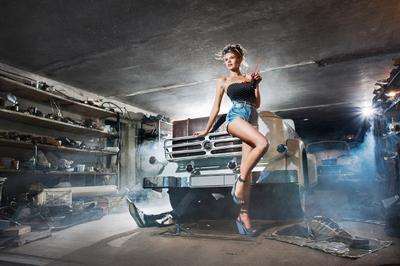 Портреты легенд прошлых лет ретро авто автомобиль пин-ап