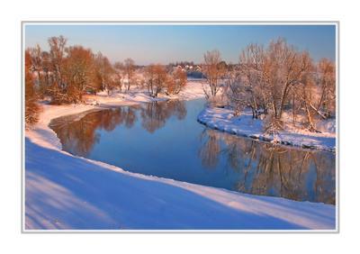 Зимний подмосковный пейзаж... Подмосковье.Руза.Зимний пейзаж