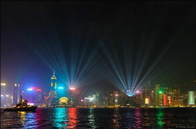 Лазерное шоу - Гонконг
