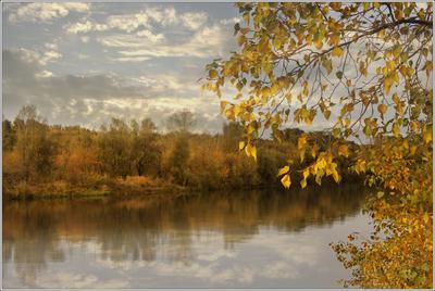 осеннее настроение... осень природа вода река тепло листья деревья