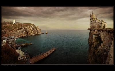 Ласточкино гнездо Крым Ялта Гаспра Ласточкино гнездо море