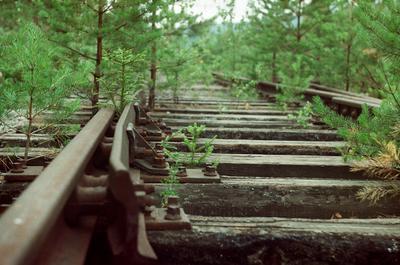 *** железная дорога abandoned пленка