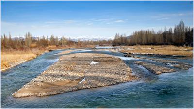Отмели реки Чу Кыргызстан река