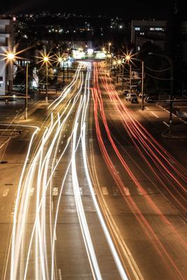 *** город ночь машины