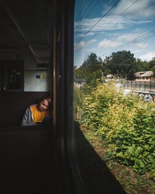 *** электричка пассажир детство лето телефон