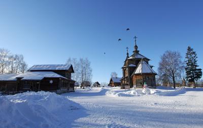 *** суздаль путешествия зима музей деревянного зодчества