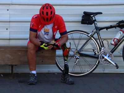 ***** стритфото .папарацци велосипедист инвалид
