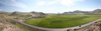 Улыбочка..  горы поля гора поле дорога лето зелень