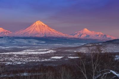 Смеркалось Камчатка вулкан закат
