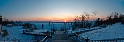 Закат на Амуре Амур, закат, Хабаровск, Дальний Восток, зима