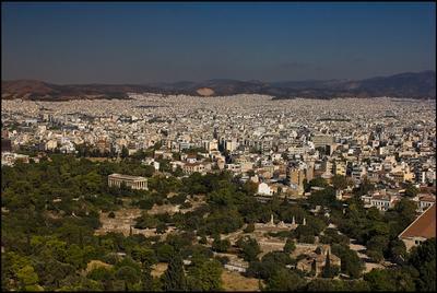 Афины(вид с Акрополя) Афины панорама
