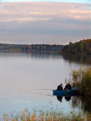пейзаж с рыбаками 2 рыбалка рыбаки Подмосковье