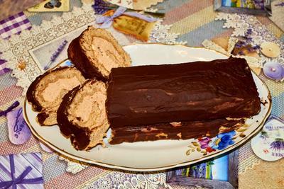 Чешский рулет сладости десерт еда кондитерские изделия