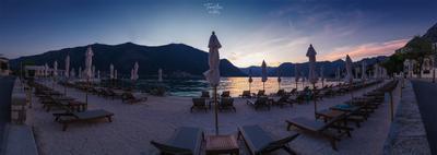 Закат в Черногории путешествие панорама закат пляж черногория