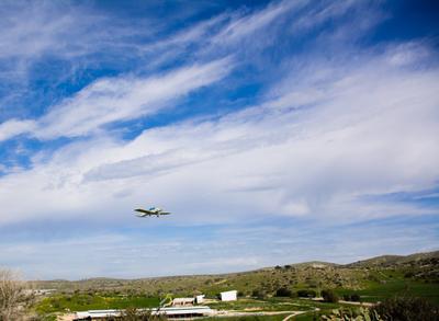 Спортивный самолет пейзаж самолет небо облака