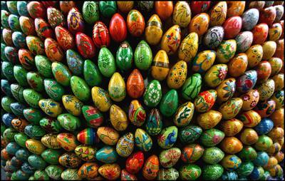 Праздничное построение Пасха яйца построение vakomin