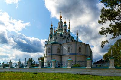 Ансамбль Успенской церкви артитектура памятник сибирь Енисейск