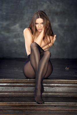 *** портрет студия девушка гламур свет вгляд Москва фотограф