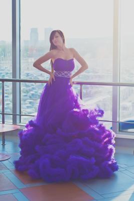 нежность сирень платье девушка красивая гламур вечернее стразы нежность солнце