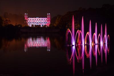 Шоу фонтанов в Гатчине Гатчина Белое озеро