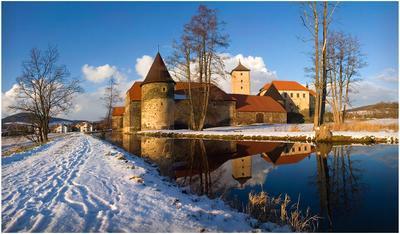 замок Золушки зимой