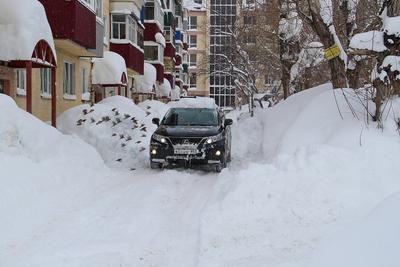 А у нас во дворе Циклон снег метель остров Сахалин